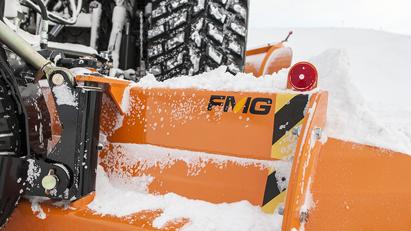 valtra unlimited custom tractor with snow plough detail image